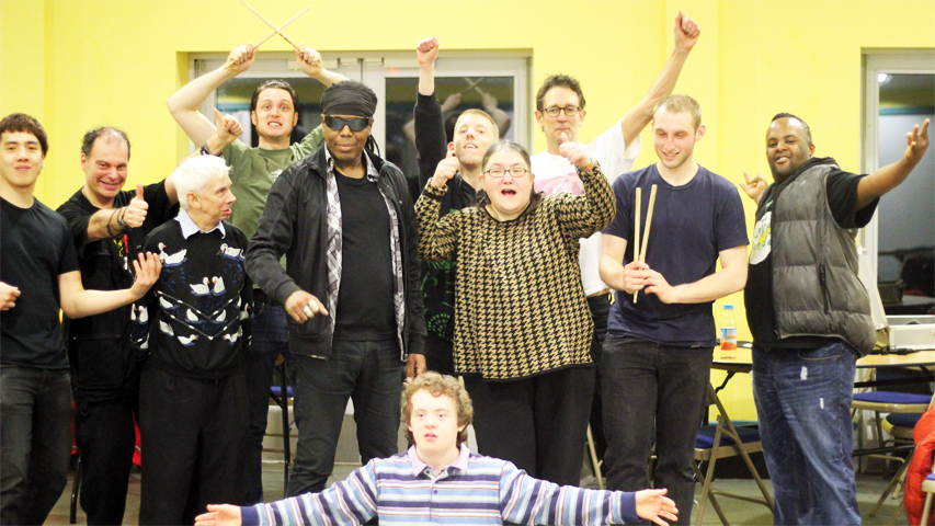 group photo of both bands